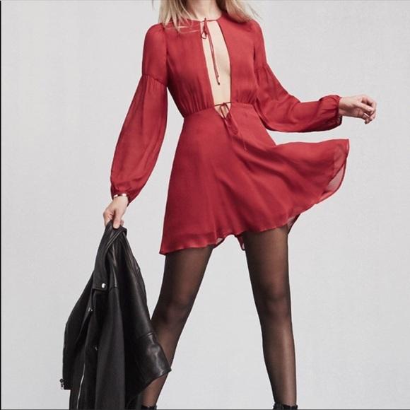 Reformation Dresses Red Bella Dress Valentines Day Poshmark